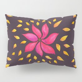 Whimsical Watercolor Floral Pattern In Pink And Purple Pillow Sham