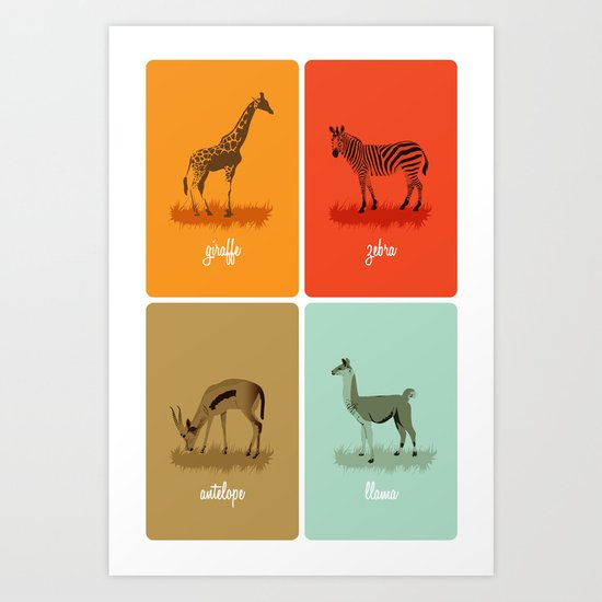 4-legged Exotica  Art Print