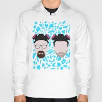 jesse pinkman Hoodies featuring Walter White and Jesse Pinkman by Raquel Segal
