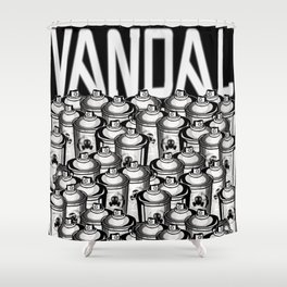 VANDAL and SPRAY CANS Shower Curtain