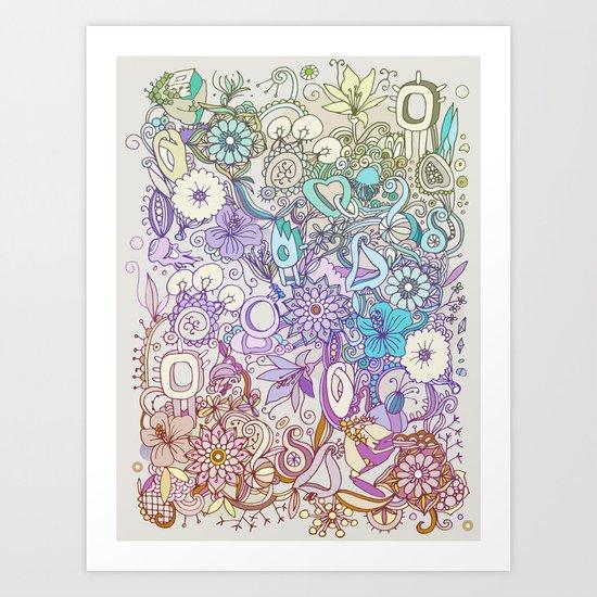 Camtric world creatures Art Print