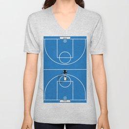 Shooting Hoops | Basketball Court Unisex V-Neck