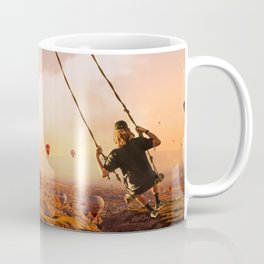 Swinging with Balloons by GEN Z Coffee Mug