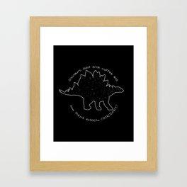 Coffeesaurus Framed Art Print