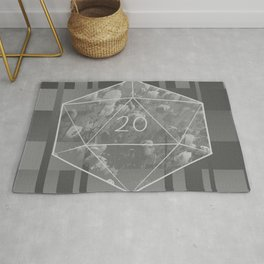 """""""May all your rolls be crits"""" floral d20 pattern Rug"""