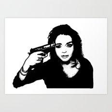 Lindsay Lohan. Art Print