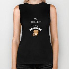 My Toller BFF Dog Best Friend Forever Cute Gift Idea Biker Tank