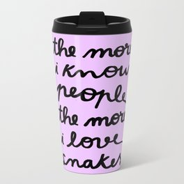 ALL MY FRIENDS ARE SNAKES Metal Travel Mug