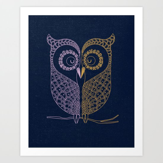 Tale of two birds  Art Print