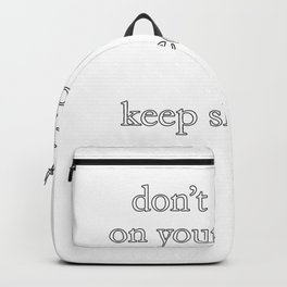 Don't Give Up On Your Dreams Keep Sleeping Backpack