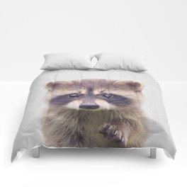 Raccoon - Colorful Comforters