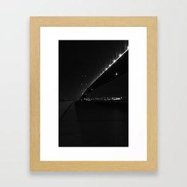 Humber Bridge,Hull at night Framed Art Print