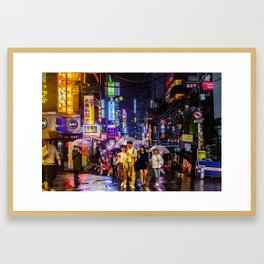 Night Out in Gangnam Framed Art Print