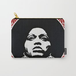 Rainbow Motif - Angela Davis - Power & Equality - Power to the People Vintage Poster Carry-All Pouch