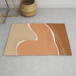 Earth tone abstract geometry Rug