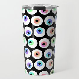 Lovely Sparkly Rainbow Eyeballs Travel Mug