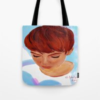 ginger Tote Bags featuring Ginger by Adelys