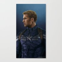 steve rogers Canvas Prints featuring Steve Rogers by E Cairns Art