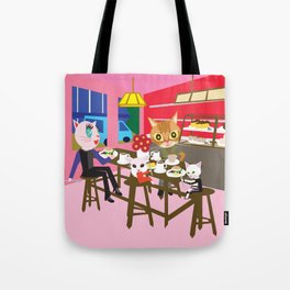 fashionista cats sweets Tote Bag