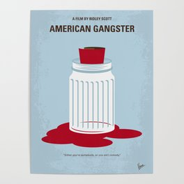 No748 My American Gangster minimal movie poster Poster