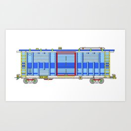 box car Art Print