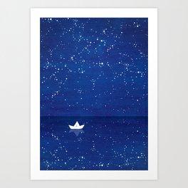 Zen sailing, ocean, stars Kunstdrucke