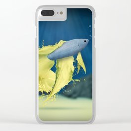 Betta Splash Clear iPhone Case
