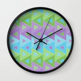 mauve abstract 1 Wall Clock
