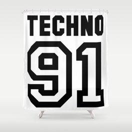TECHNO Shower Curtain