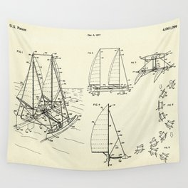 Outrigger Sailboat-1977 Wall Tapestry