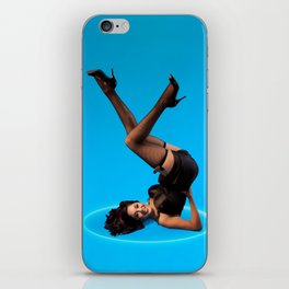"""""""Dizzy Desi"""" - The Playful Pinup - Black Lingerie Pinup Girl by Maxwell H. Johnson iPhone Skin"""