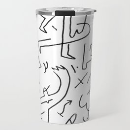 doodle people 3 Travel Mug