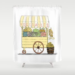 Vegetable Cart Shower Curtain