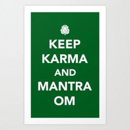 Keep Karma And Mantra Om Art Print