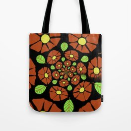 The Red Flower Polka Tote Bag