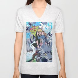 Digimon Tri Mimato Unisex V-Neck