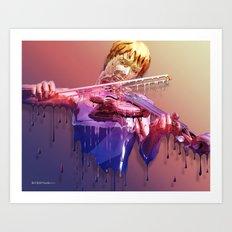 Weeping Violin Art Print