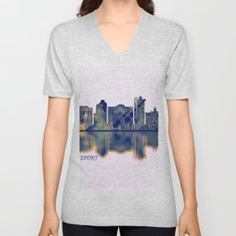 Bridgeport Skyline Unisex V-Neck