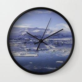Glacial Lagoon 08 Wall Clock