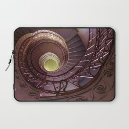 Spiral staircase in red and golden tones Laptop Sleeve