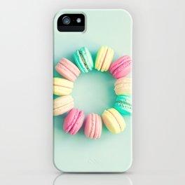 Macarons, macaroons circle, pop art iPhone Case