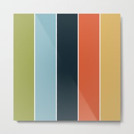 Summer stripes part 3 #eclecticart Metal Print