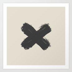 Black Cross Art Print