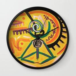 Messy Meditation Wall Clock