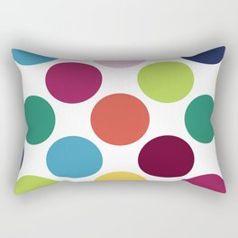 Colorful Dots Rectangular Pillow