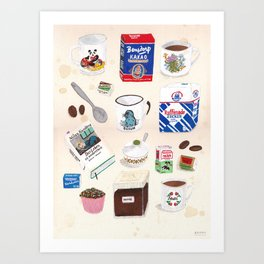 things for a snuggy time Art Print