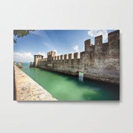 Scaliger Castle, Sirmione, Lake Garda, Lombardy, Italy Metal Print