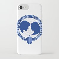 amy pond iPhone & iPod Cases featuring Doctor Who pals: Matt Smith & Amy Pond by logoloco