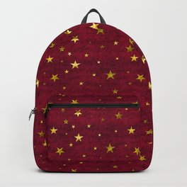 Chenille Claret Stars Backpack