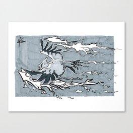 Inktober Day 19: Scorch Canvas Print
